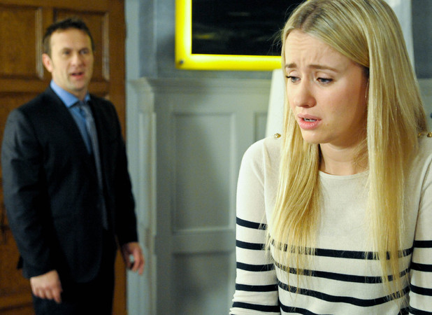 Emmerdale, ITV1, Katie tells Declan their marriage may be over, Mon 14 Jan