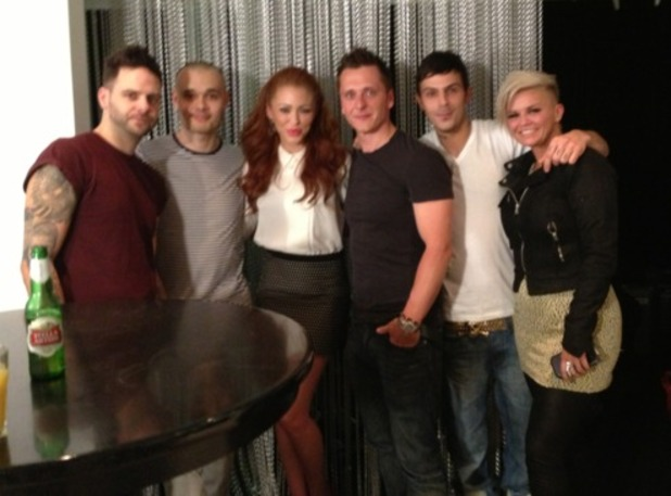 Atomic Kitten with boy band 5ive
