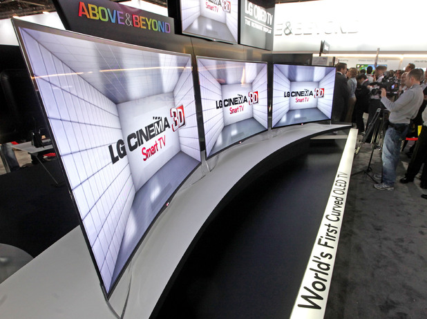 LG curved 55-inch OLED TV