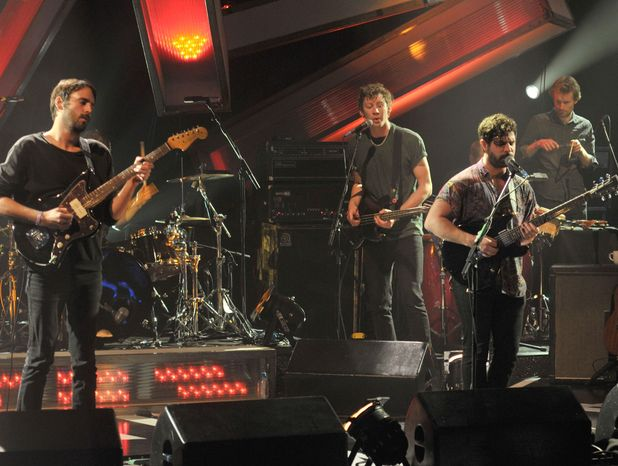 The Foals on 'Later with Jools Holland', 13 Nov 2012 (Jimmy Smith, Walter Gervers and Yannis Philippakis)