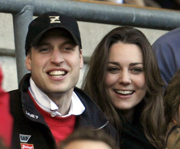 England V Italy rugby union match at Twickenham, Middlesex, Britain - 10 Feb 2007, Kate Middleton, Prince William,