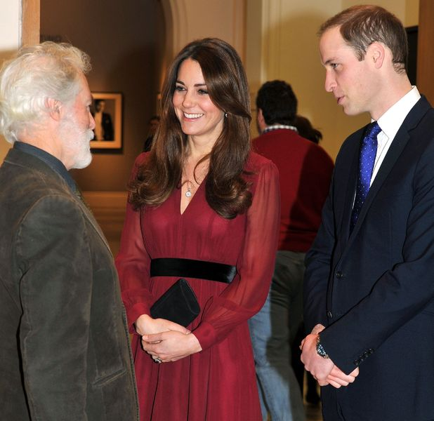 Kate Middleton and Prince William chat to Paul Emsley at unveiling of first official portrait - 11 Jan 2013