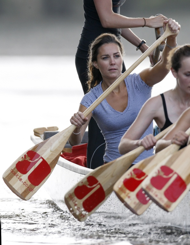 Kate Middleton, training for 'The Sisterhood Challenge' on the River Thames,
