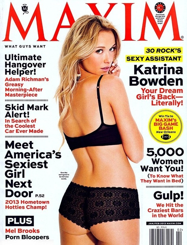 '30 Rock' star Katrina Bowden poses for US Maxim.