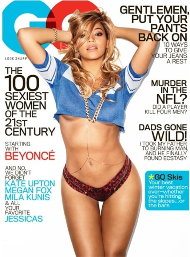 Beyonce poses for GQ