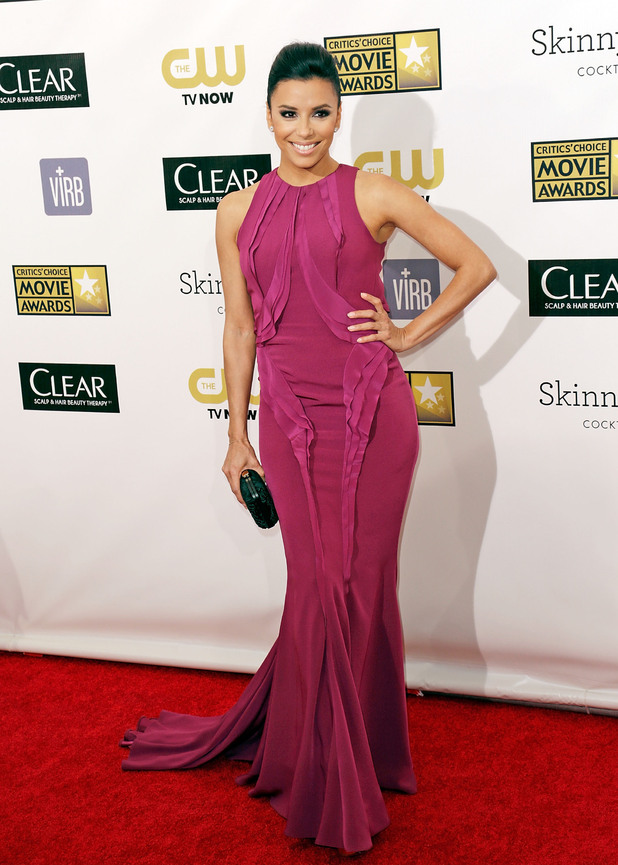 Eva Longoria arriving at the 18th Annual Critics' Choice Movie Awards held at Barker Hangar, California