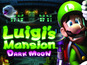 Luigi's Mansion: Dark Moon's cover art sees Luigi clinging to the 3DS logo.