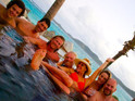 One Direction singer seen partying with Bravo TV's Hermione Way on Necker Island.