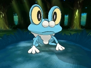 Pokemon X and Y screenshot: Froakie (Water)