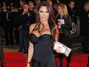 Katie Price appears at Skyfall premiere