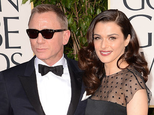 Daniel Craig and Rachel Weisz arriving at the 70th Annual Golden Globe Awards 2013 in Los Angeles