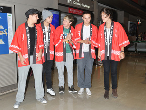 Niall Horan, Zayn Malik, Louis Tomlinson, Liam Payne and Harry Styles of One Direction arrives at Narita International AirportFeaturing: Niall Horan,Zayn Malik,Louis Tomlinson,Liam Payne,Harry Styles Where: Narita, Japan When: 17 Jan 2013 Credit: Louie Angelo/WENN.com