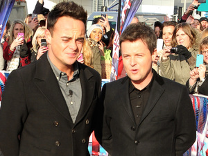 Ant & Dec arriving at the first round of auditions in Cardiff for Britain's Got Talent 2013