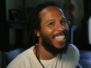 Recording artist Ziggy Marley poses for a portrait in Los Angeles, Wednesday, Dec. 5, 2012.