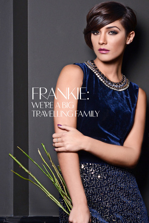 Frankie Sandford poses for Glamoholic.