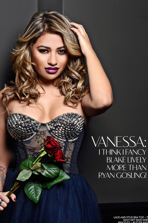 Vanessa White of The Saturdays poses for Glamoholic.