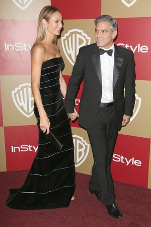 Stacy Keibler and George Clooney, InStyle And Warner Bros. Golden Globe after party 