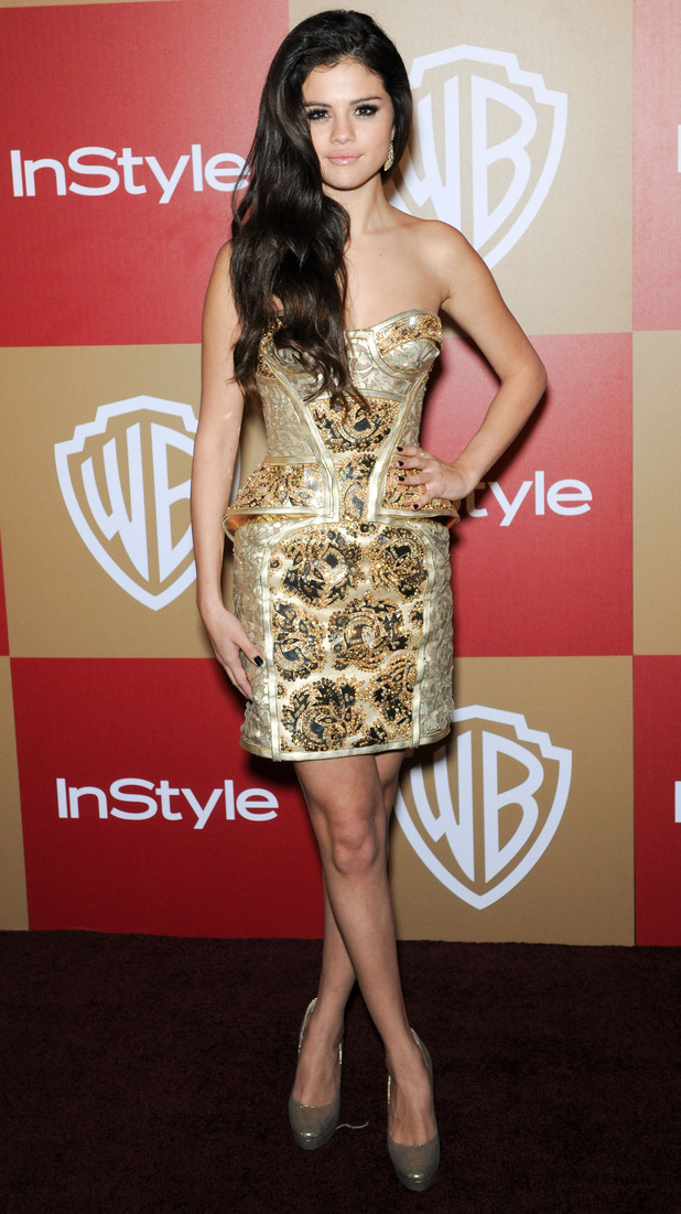 InStyle And Warner Bros. Golden Globe After Party at The Beverly Hilton Hotel - Arrivals Featuring: Selena Gomez Where: Beverly Hills, California, United States When: 13 Jan 2013