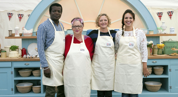 The Great Comic Relief Bake Off: Stephen K Amos, Jo Brand, Lorna Watson, Ingrid Oliver