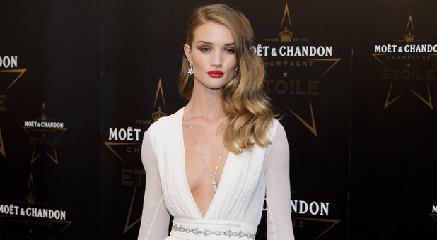 Rosie Huntington-Whiteley arrives for the Moet & Chandon Etoile Awards