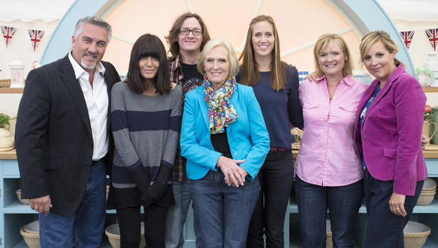 The Great Comic Relief Bake Off: Paul Hollywood, Claudia Winkleman, Ed Byrne, Mary Berry, Helen Glover, Martha Kearney, Mel Giedroyc