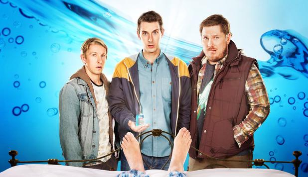 Way To Go: Joey Copeland (Ben Heathcote), Scott Copeland (Blake Harrison) and Cozzo Costigan (Marc Wootton)