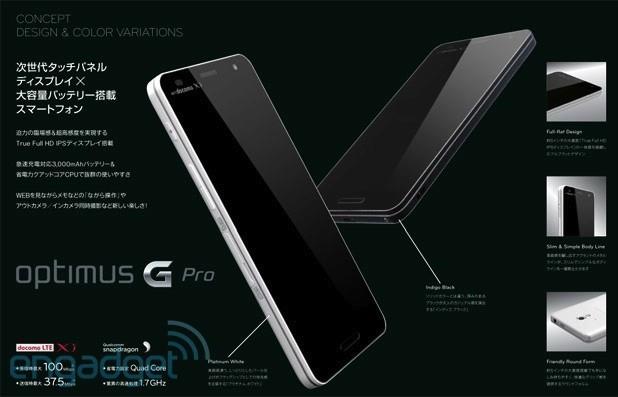 LG's Optimus G Pro leak