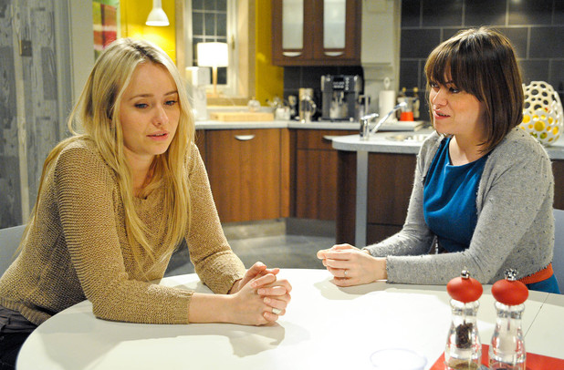 6464: Gennie asks Katie to be Molly's Godmother. Katie agrees but struggles to contain her sadness about not being able to have children of her own