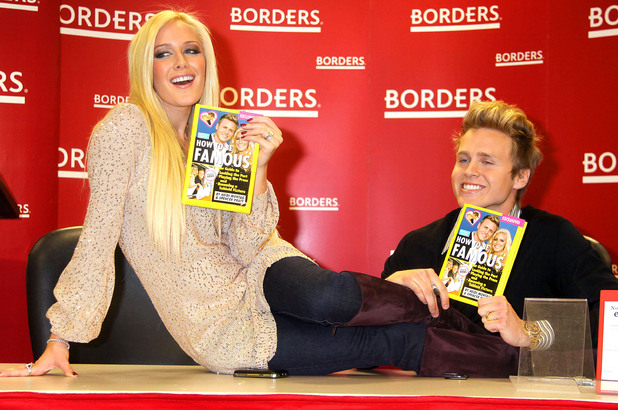 Heidi Montag & Spencer Pratt at Borders signing their new book 'How to be Famous'. Heidi and Spencer, as your personal coaches, can transform anyone into a ubiquitous star that everyone loves to hate! New York City, USA