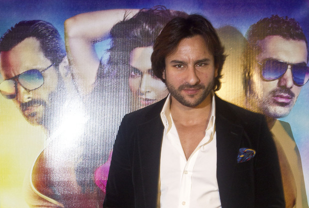 Bollywood actor Saif Ali Khan arrives at a photocall for Race 2 at a central London casino, Monday, Jan. 14, 2013.