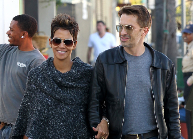Halle Berry and her beau Olivier Martinez seen shopping on Abbot Kinney in Venice Beach.