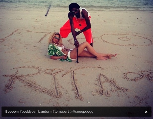 Rita Ora and Snoop Lion in Thailand.