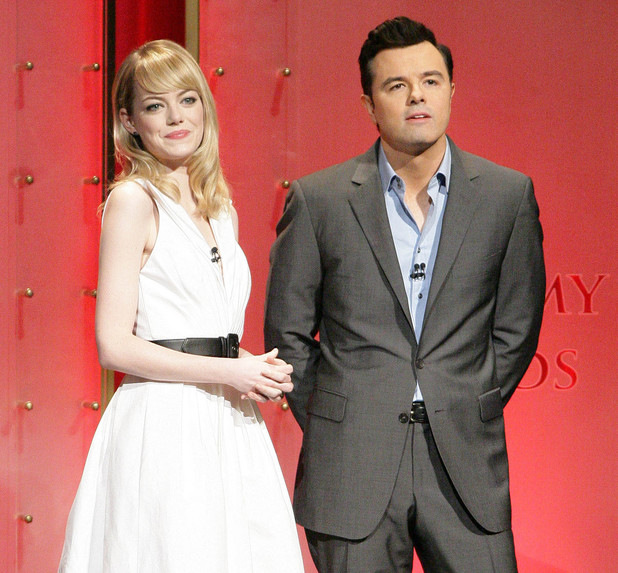 The 85th Academy Awards Nominations Announcement held at The AMPAS Samuel Goldwyn Theater - Emma Stone and Seth MacFarlane
