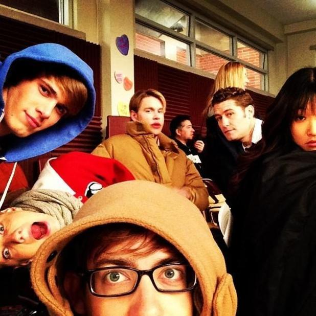 Glee behind-the-scenes pics as tweeted by Ryan Murphy