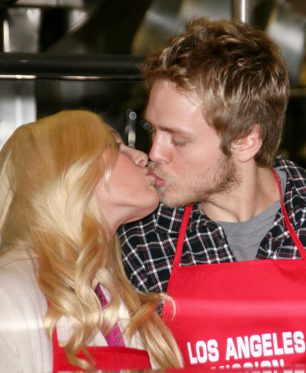 Heidi Montag and Spencer PrattChristmas Eve at The Los Angeles Mission Los Angeles, California