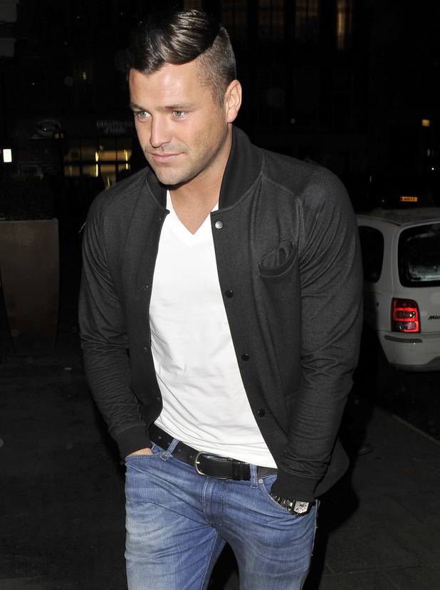 Mark Wright leaves the May Fair hotel with friends and heads for the Aura nightclub to celebrate his 26th birthday