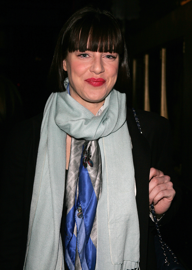Michelle Ryan leaves the Savoy Theatre after performing in the stage musical 'Cabaret'
