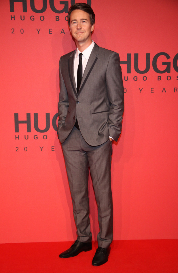 Edward Norton, MBFW Autumn/Winter 2013 - Hugo By Hugo Boss arrivals/front row at Buehnenwerkstaetten Zinnowitzer Strasse Berlin, Germany
