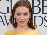 Alyssa Milano arriving at the 70th Annual Golden Globe Awards 2013 in Los Angeles