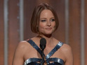 The actress thanks her ex-partner during her Cecil B DeMille acceptance speech.