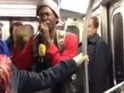YouTube video shows New York City beatboxer entertaining commuters.