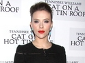 Scarlett Johansson attends opening night for Cat On A Hot Tin Roof on Broadway.