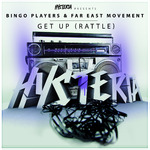 Bingo Players ft. Far East Movement 'Get Up (Rattle)' single artwork.