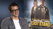 Johnny Knoxville and Jaimie Alexander chat to Digital Spy about working with action icon Arnold Schwarzenegger for 'the Last Stand'