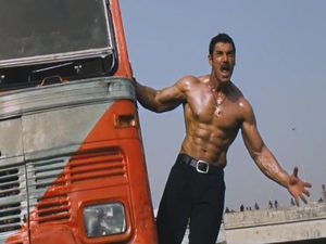 John Abraham in 'Shootout at Wadala' train stunt