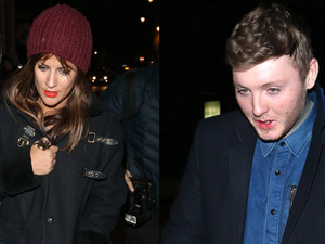 Caroline Flack and James Arthur