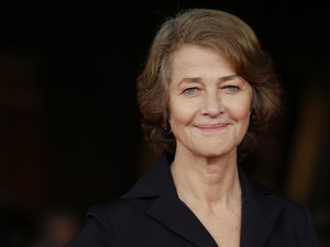 Charlotte Rampling poses as she arrives for the screening of the movie &quot;Tutto parla di te&quot;, at the 7th edition of the Rome International Film Festival in Rome, Thursday, Nov. 15, 2012.
