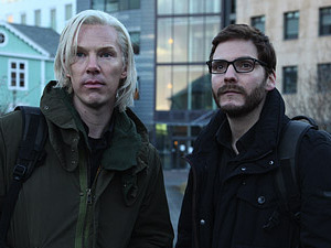 "Benedict Cumberbatch (left) portrays Julian Assange and Daniel Brühl portrays Daniel Domscheit-Berg in the DreamWorks Pictures' drama ""The Fifth Estate""."