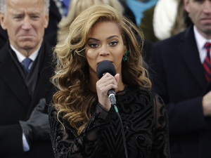 Beyonce at Barack Obama's 2013 inauguration