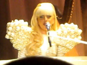 Lady GaGa performs at inauguration White House Staff Ball - video still